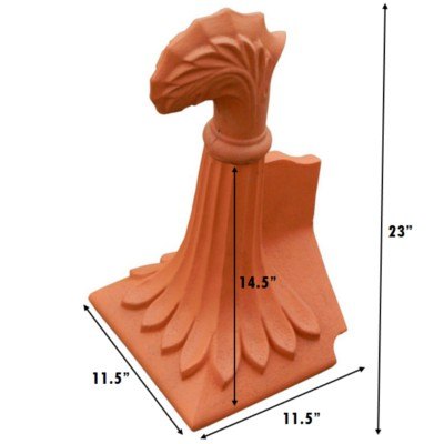 OAB6 curved leaf finial measurements