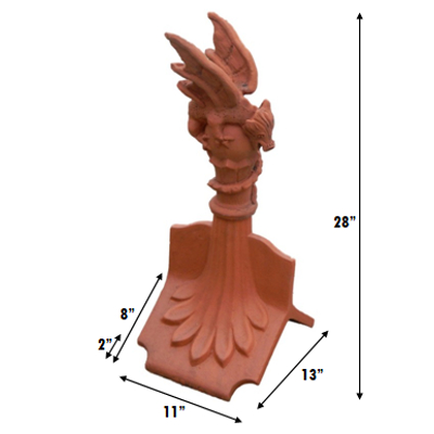 OA 35 range mini dragon finial. measurements