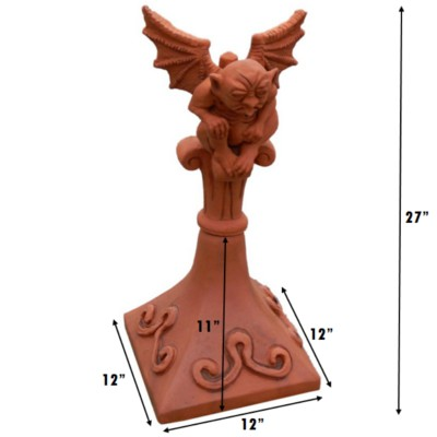 SQ5 square base gargoyle finial measurements