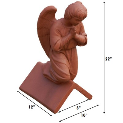 angled angel roof finial measurements