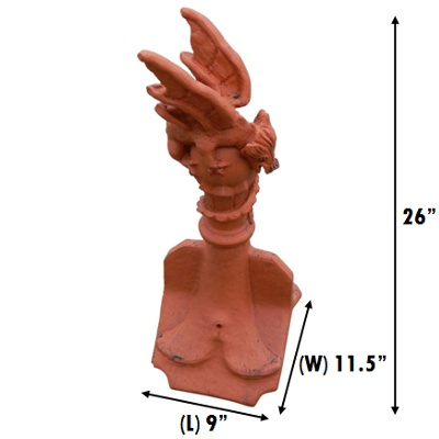 mini roof dragon finial crest measurements