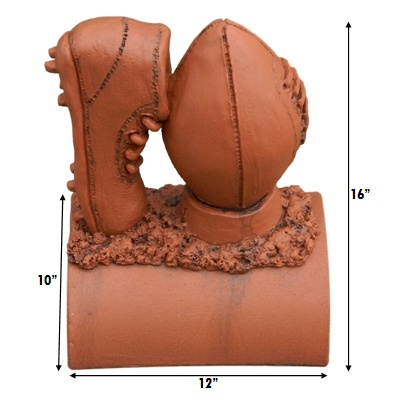 rugby ball terracotta imperial measurements