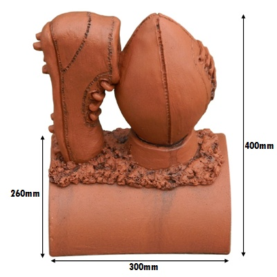 rugby ball terracotta metric measurements