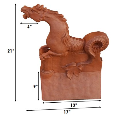 sea horse roof finial measurements