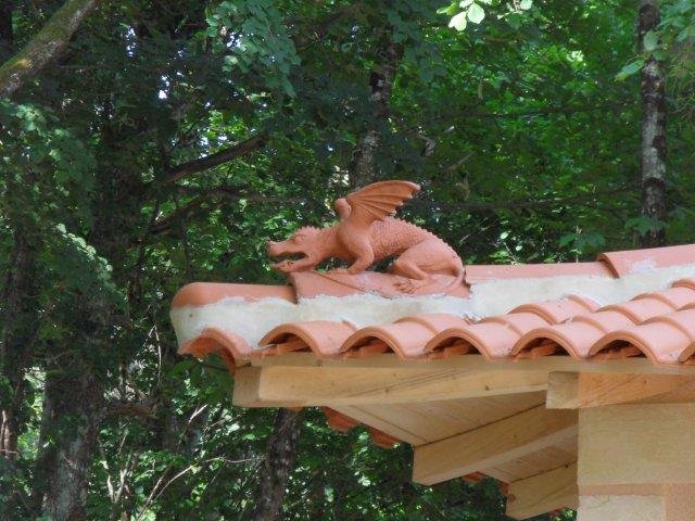 dragon on the roof