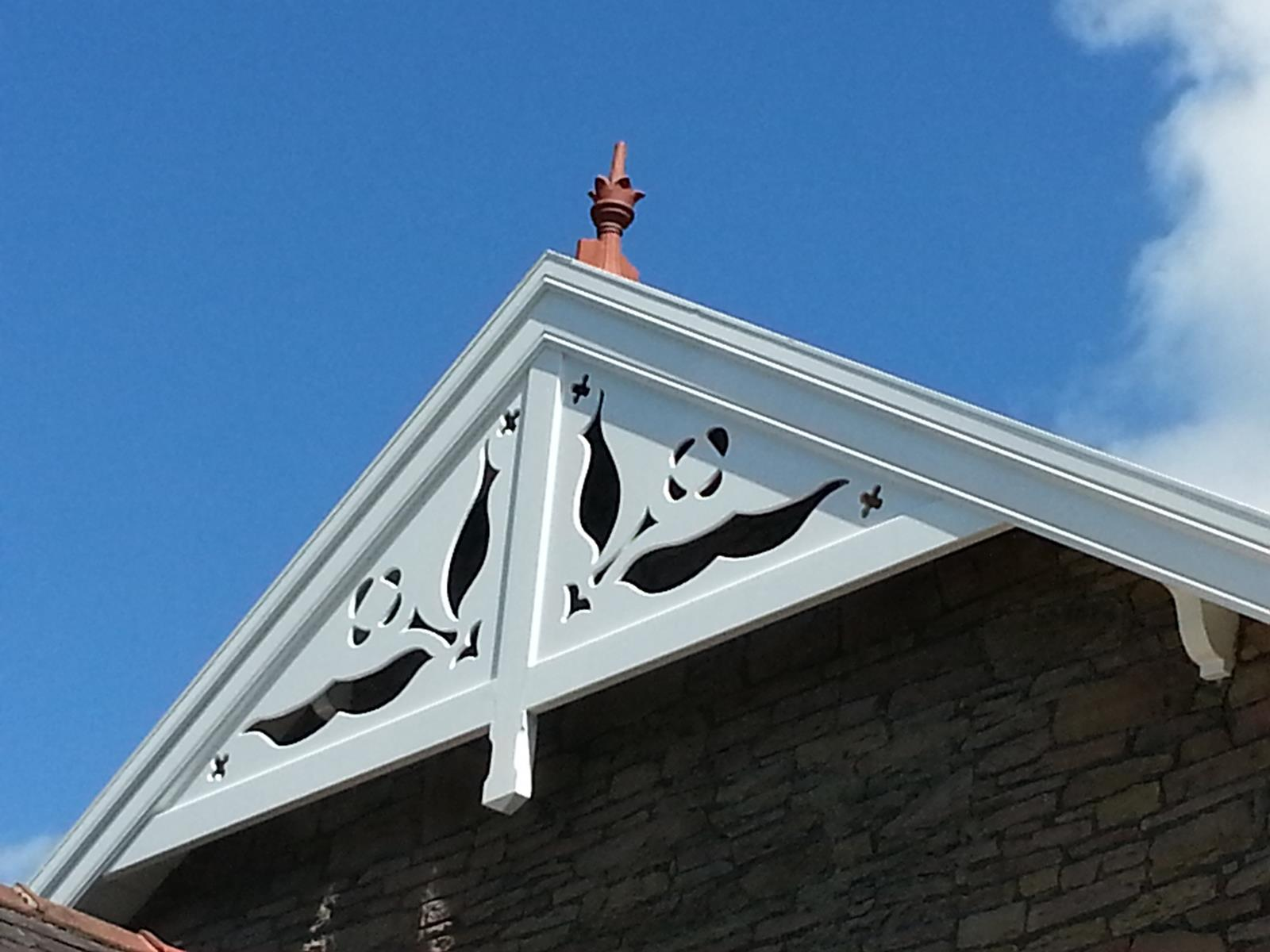 gable end crown crest roof finial