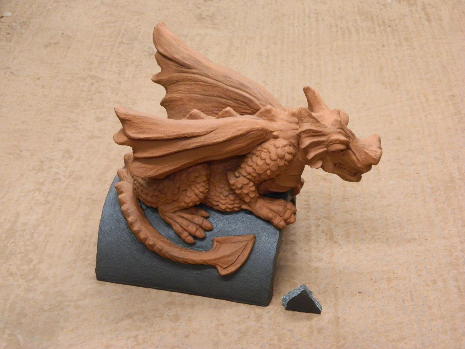 custom roof dragon special two tone grey terracotta colour match