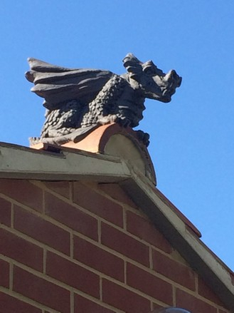 roof dragon on extension gable end
