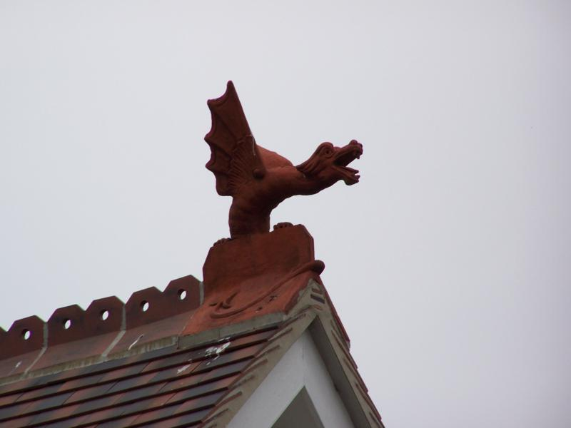Roof dragon on the roof