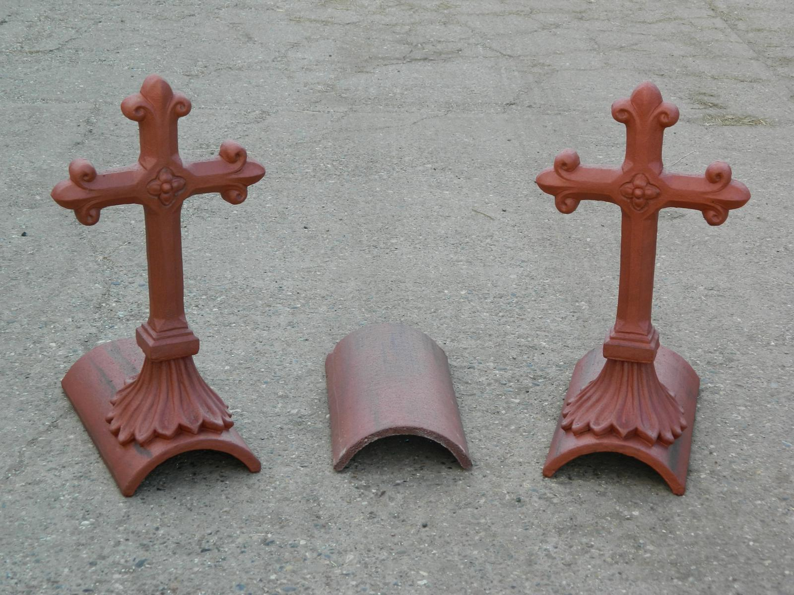 Marley old english dark red tudor cross finial colour match