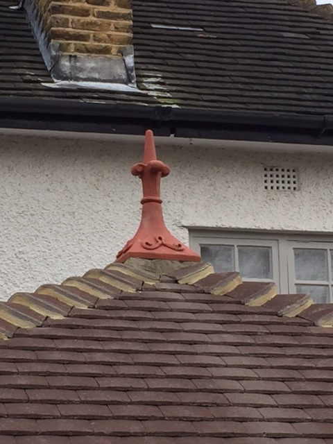 4 sided roof finial on double hip roof