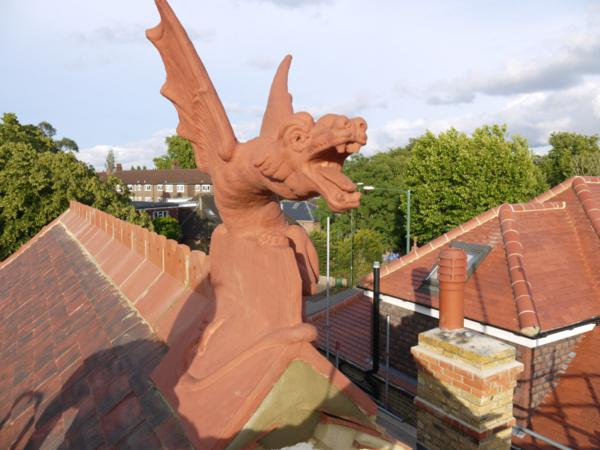 Redbank colour matched ridge dragon on the roof