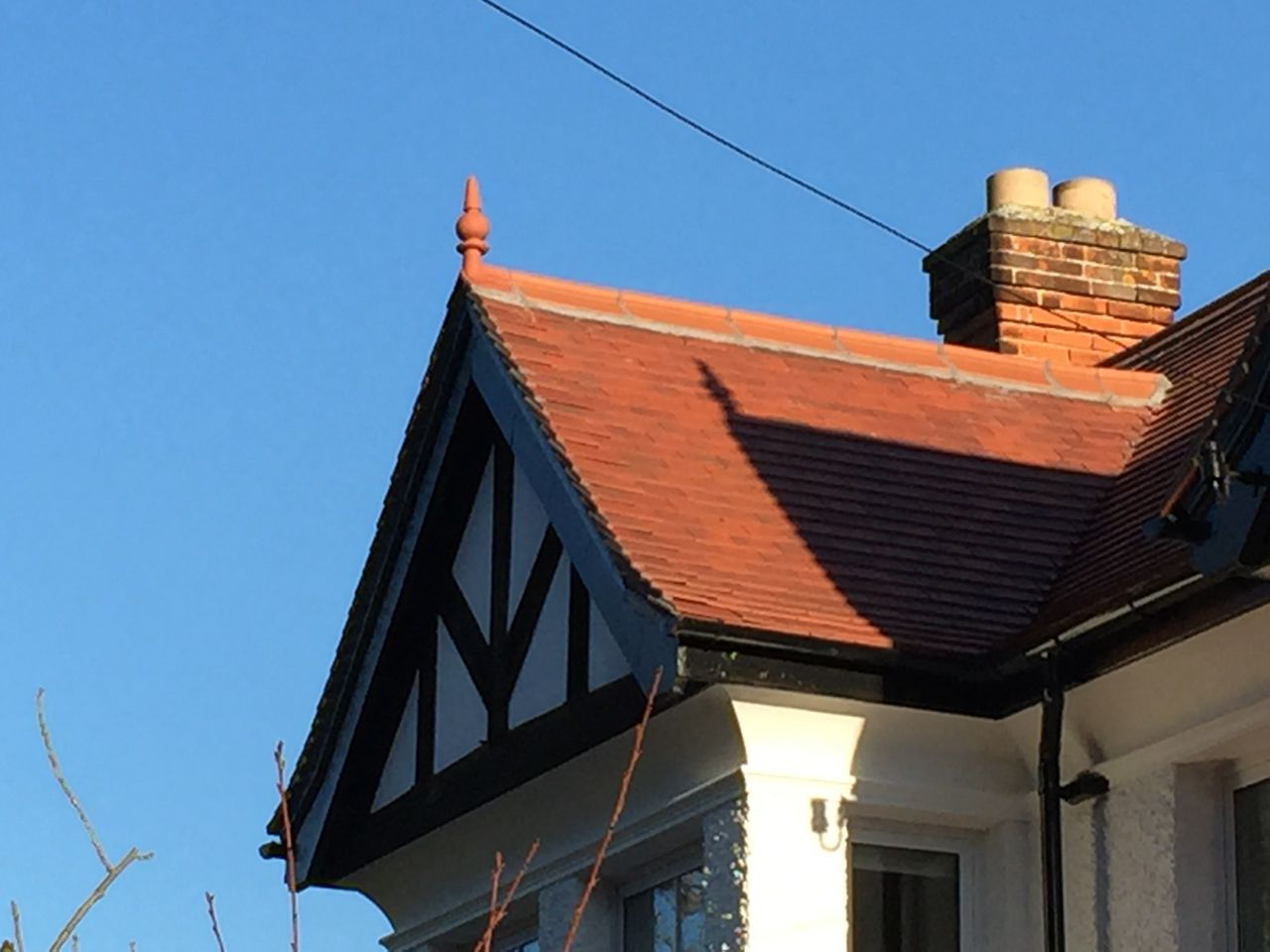 terracott roll top roof finials marley red smooth colour