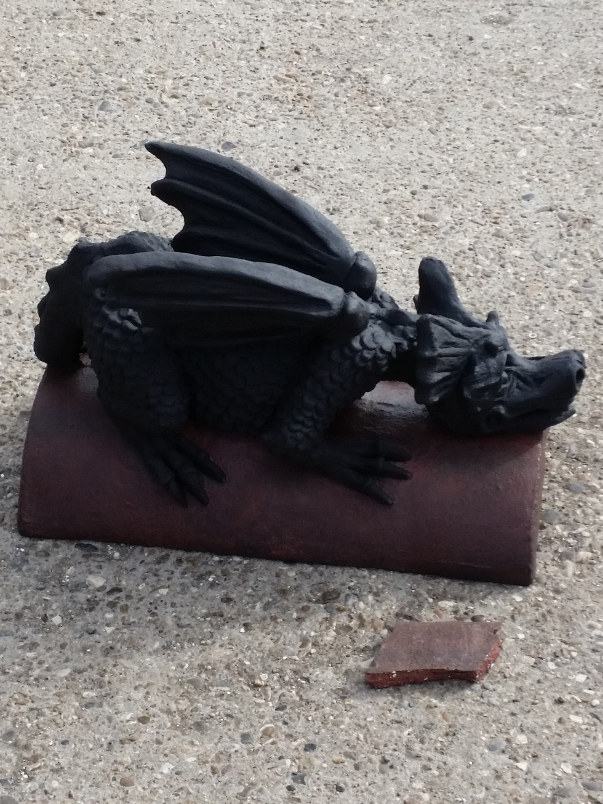 colour match ridge tile and anthracite dragon finial