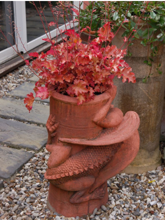welsh dragon chimney pot planter