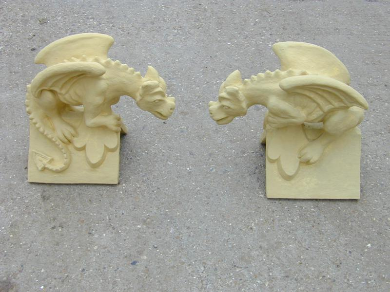 yellow buff sandstone roof dragons